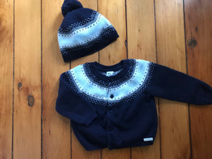 Janie and Jack Cardigan and Hat Set