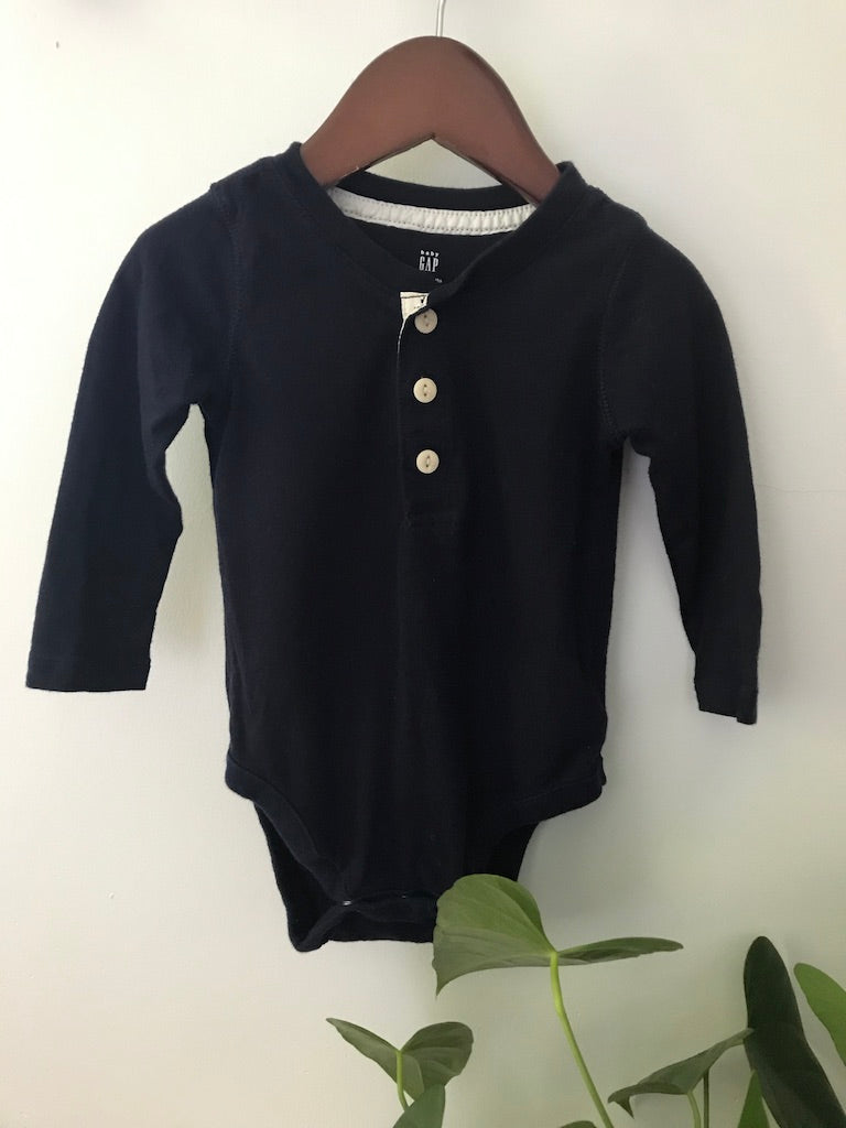 Baby Gap Navy Long Sleeve Onesie
