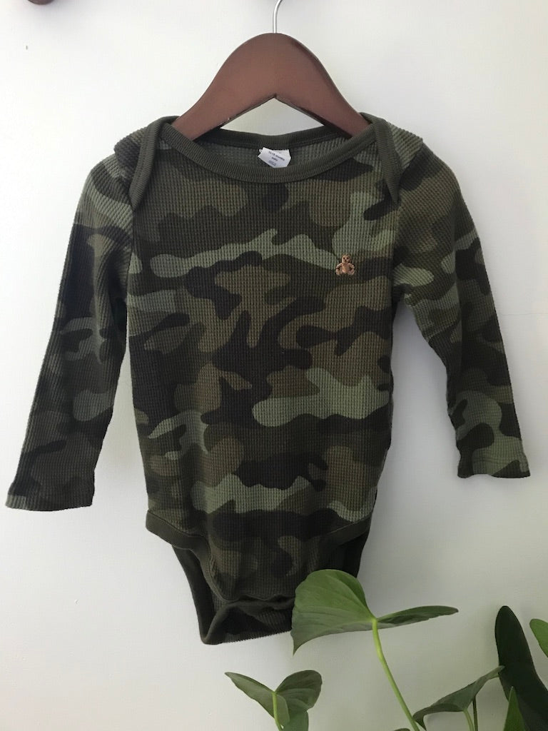 Baby Gap Camo Thermal Onesie
