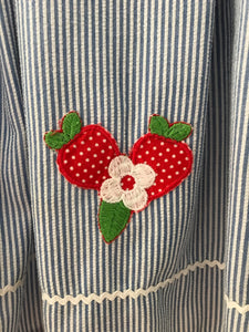 Little Bitty Strawberry Applique Dress