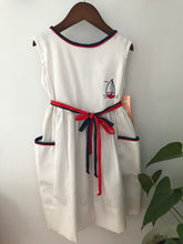 Load image into Gallery viewer, Polly Flinders Vintage Sailboat Dress