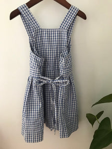 Izod Vintage Gingham Jumper Dress