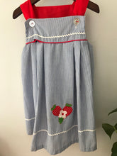 Load image into Gallery viewer, Little Bitty Strawberry Applique Dress