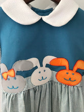 Load image into Gallery viewer, Chocolate Soup Bunny Applique Dress