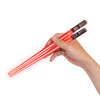 LIGHTSABER CHOPSTICKS LIGHT UP STAR WARS LED Glowing Light Saber Chop Sticks REUSABLE Sushi Lightup Sabers - Removable Handle - 2 Pairs