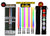 LIGHTSABER CHOPSTICKS LIGHT UP STAR WARS LED Glowing Light Saber Chop Sticks REUSABLE Sushi Lightup Sabers - 8 Color Modes