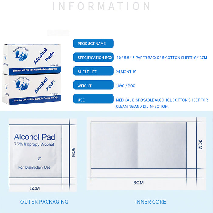 100 Units / Alcohol Pads