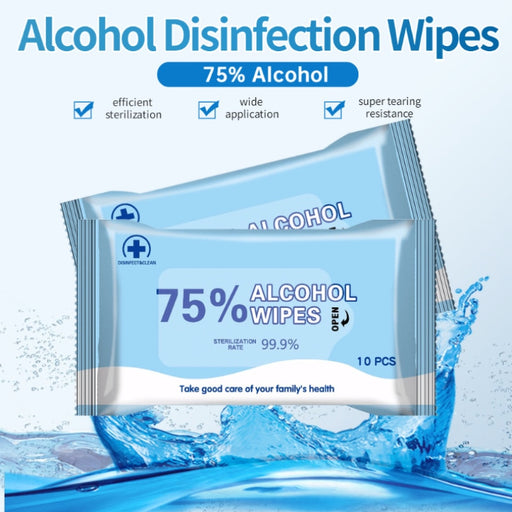 10 Pieces / Bag - Alcohol Hand Sanitizer Wipes