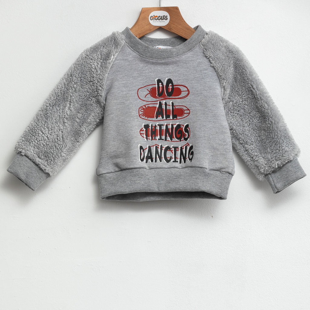 sweatshirt - Grey chine