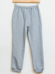 Knit pants - Grey chine