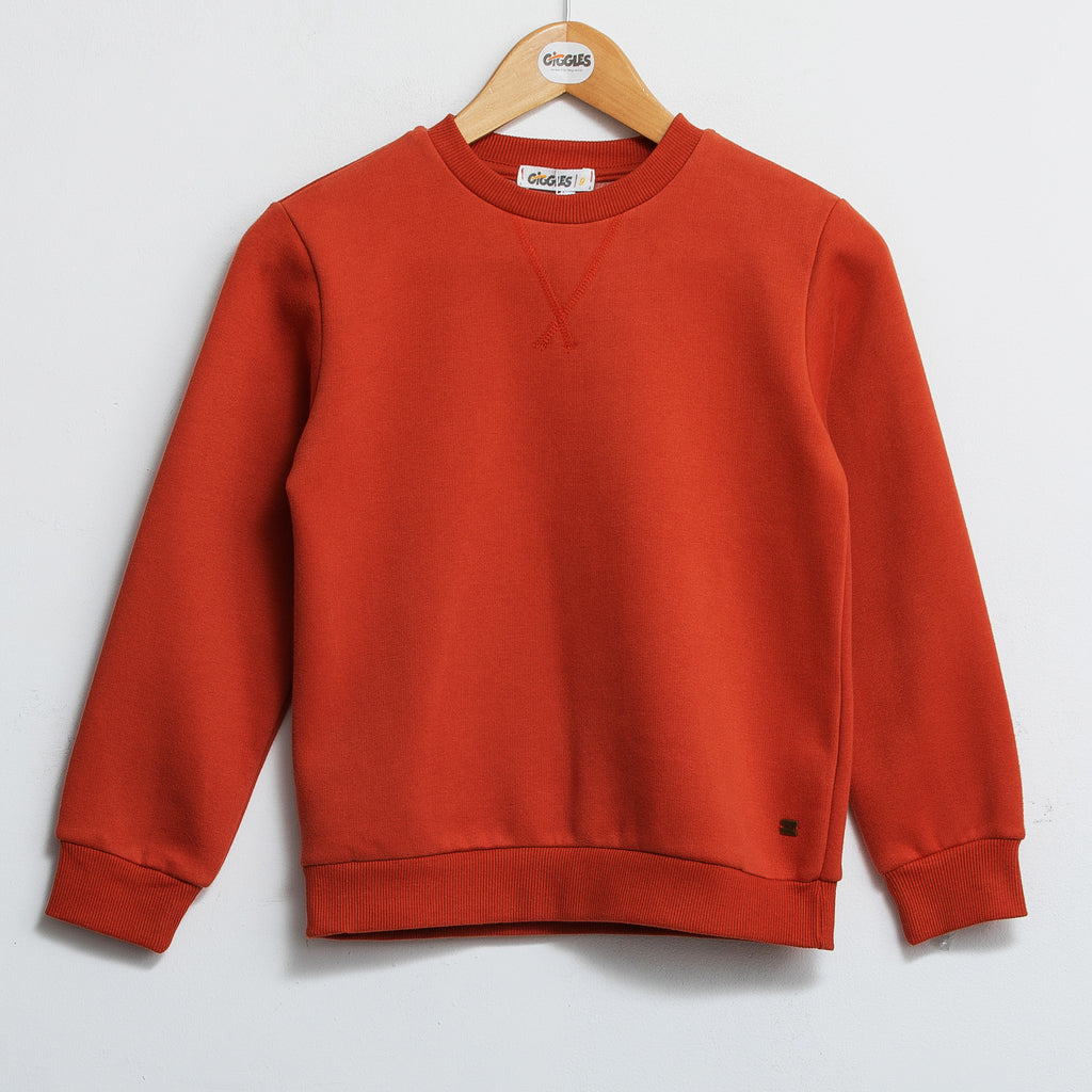 Basic sweatshirt - Orange