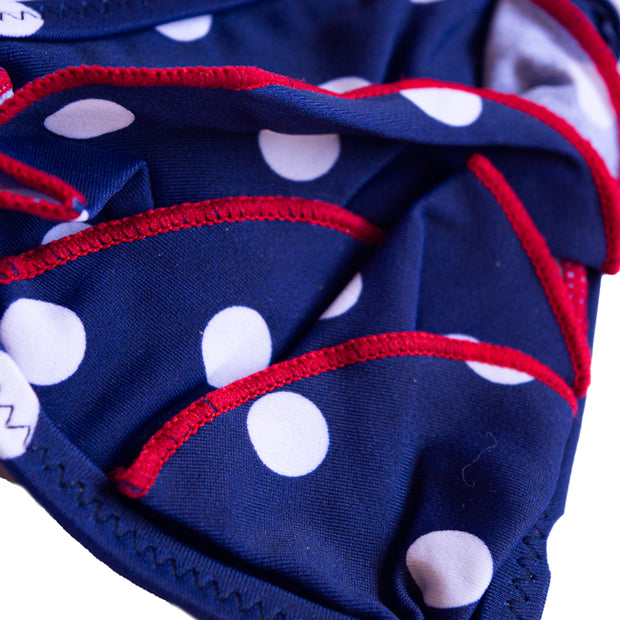 GIRL NAVY DOTS 2 PC - 82258