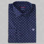 Navy Blue Micro Dot Premium Formal Shirt