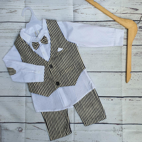 Skin Lining Formal Suit For Baby Boy Costume 3 Piece Suit