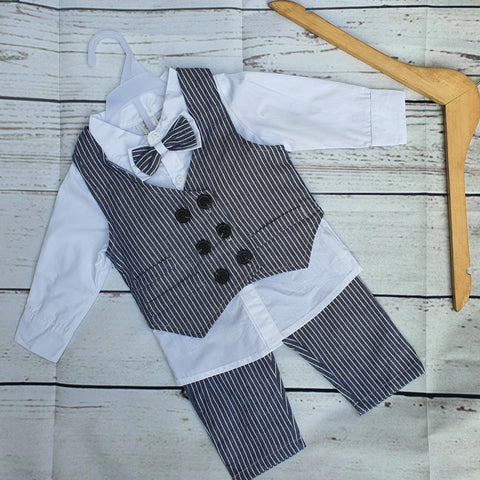 Sky Blue Formal Suit For Baby Boy Costume 3 Piece Suit
