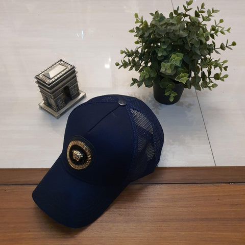Navy Blue VRSCE Steel Golden Logo Cap