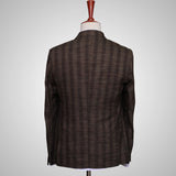 Dark Brown Checkered Premium Woolen Coat