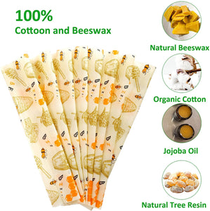 "Bees Wax reusable food wrap roll Eco Friendly Biodegradable Compostable Green Avocado Print 39"" x 13"""