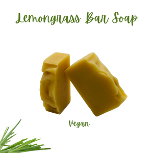 Natural Lemon Grass (1) - 4 oz Bar Soap Vegan Eco-Friendly with Exfoliating Bag
