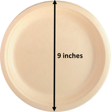 "Load image into Gallery viewer, Kosher Certified Made in USA (50) Pack 100% Eco Friendly 9"" Paper Plates"
