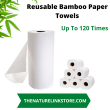 Load image into Gallery viewer, Bamboo Reusable Paper Towels up to 120 Times