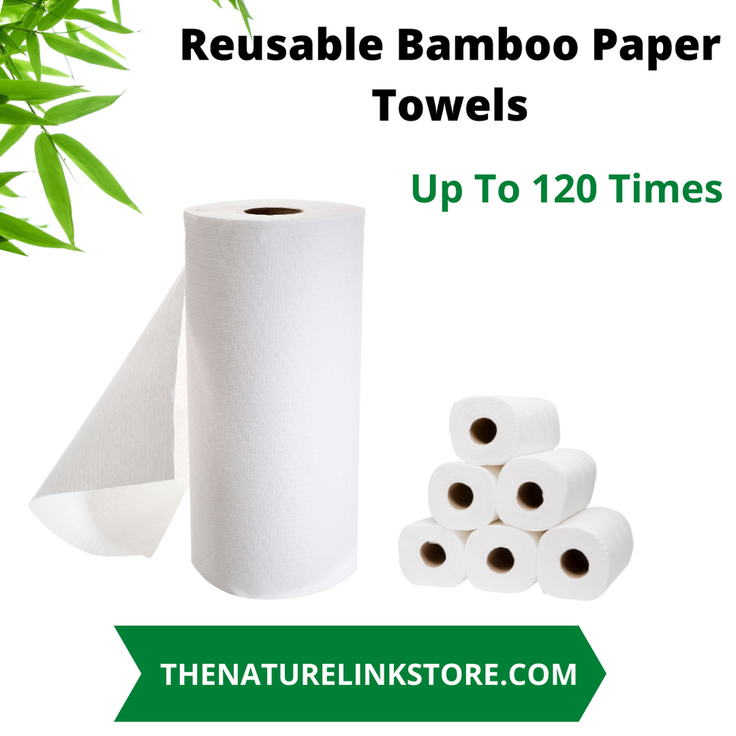 Bamboo Reusable Paper Towels up to 120 Times
