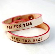 Load image into Gallery viewer, Adorable Inspiration Bracelet 100% vegetable tanned leather and pink accent (1) Bracelet with Gift Box. Thank You. Next