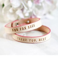Adorable Inspiration Bracelet 100% vegetable tanned leather and pink accent (1) Bracelet with Gift Box. Thank You. Next