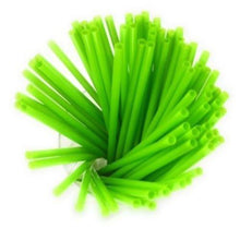 Load image into Gallery viewer, Green Colored Biodegradable 200 Pack Bulk Drinking Straws Eco Friendly Alternative to Plastic Straws