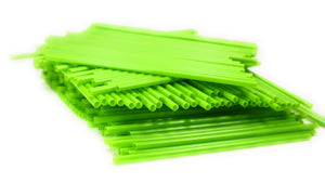 Green Colored Biodegradable 200 Pack Bulk Drinking Straws Eco Friendly Alternative to Plastic Straws