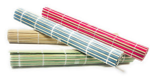 ROLL- UP Place mats 4 pack Eco friendly Multi-colored, Natural Bamboo, Great for all gatherings, Stylish