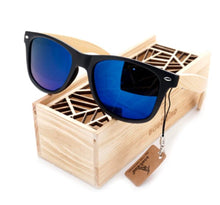Load image into Gallery viewer, Eco-Friendly fashionable BAMBOO sunglasses with polarized UV protection lens.