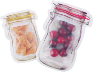 Reusable Airtight  Mason Jar Zipper Bags 20 Pcs.