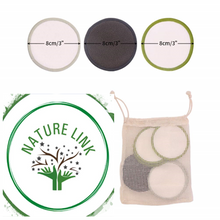 Load image into Gallery viewer, Nature Link 15 Pack Bamboo Washable Reusable Makeup Remover