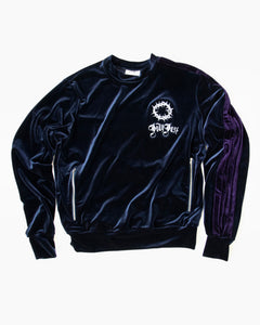 Navy/Purple Velvet Tracksuit Top