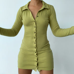 BUTTON ME UP DRESS OLIVE