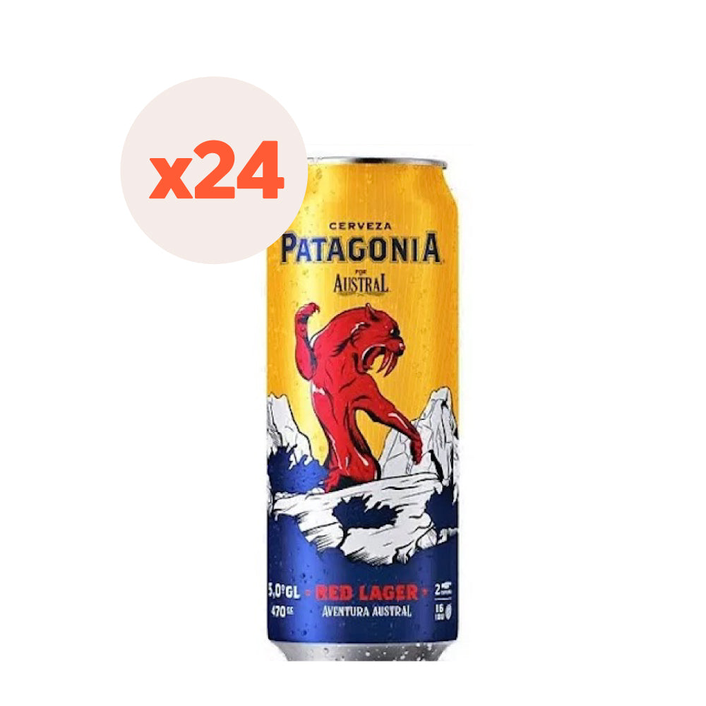 24 x Cerveza Austral Patagonia Red Lager Lata 470cc