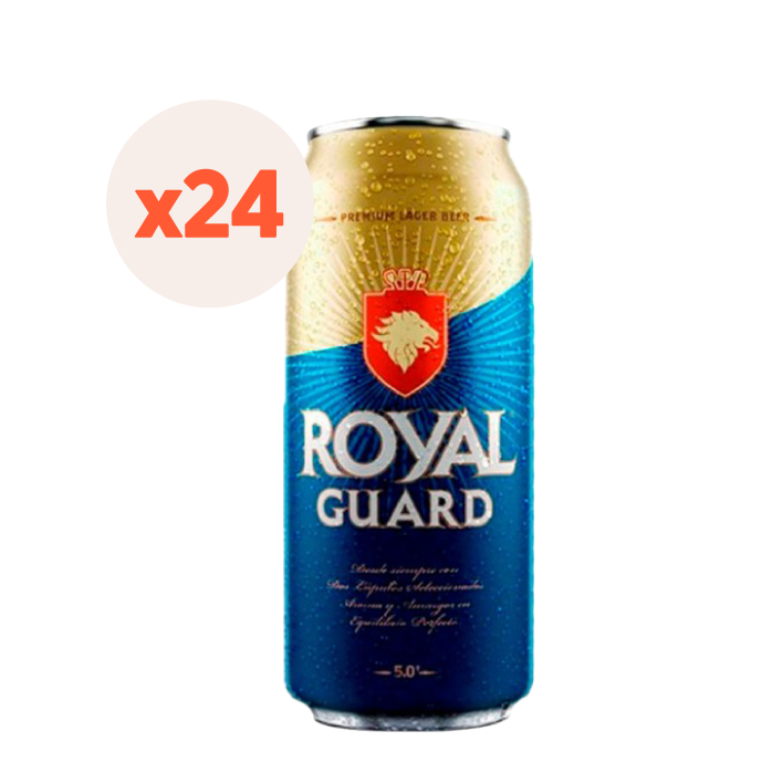 24x Cerveza Royal Guard lata 473cc