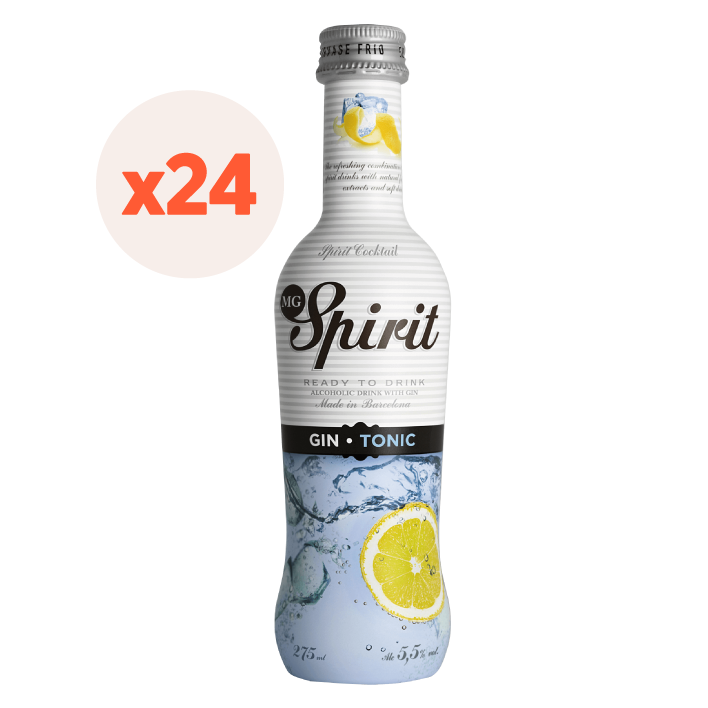 24x Vodka Spirit Gin Tonic 5,5º 275cc ($1.207 c/u)