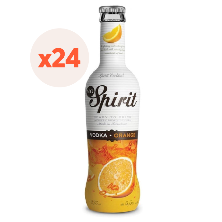 24x Vodka Spirit Orange 5,5º 275cc ($1.207 c/u)