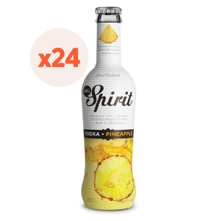 24x Vodka Spirit Pineapple 5,5º 275cc ($1.125 c/u)