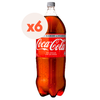 6x  Bebida Coca Cola light botella desechable 3000cc