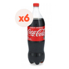 Pack 6 x Bebida Coca cola normal botella Desechable 1500cc