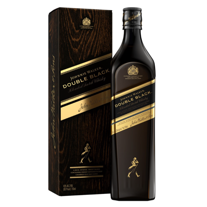 Whisky Johnnie Walker Double black label reserva 12 años 40º botella 750cc