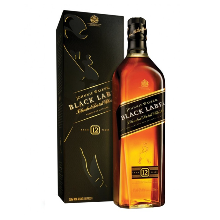 Whisky Johnnie Walker Black Label reserva 12 años 40º botella 750cc