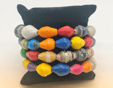 Load image into Gallery viewer, The Patricia Collection - Wrap Paper Bead Bracelet