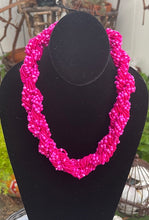 Load image into Gallery viewer, The Dorcas Handmade Braided Seed Bead Necklace