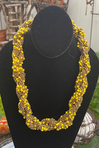 The Dorcas Handmade Braided Seed Bead Necklace