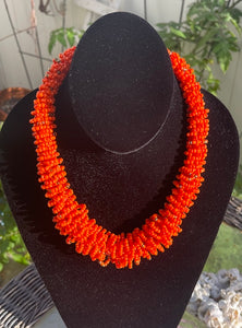 The Rael Handmade Loop Seed Bead Necklace