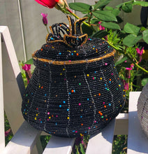 Load image into Gallery viewer, Handmade Jar Style Seed Bead Basket